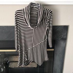 Cowl neck long sleeve shirt